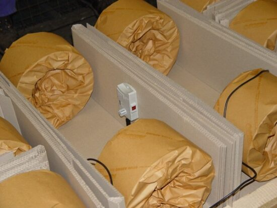 Kręgi blachy pakowane w papier VCI
